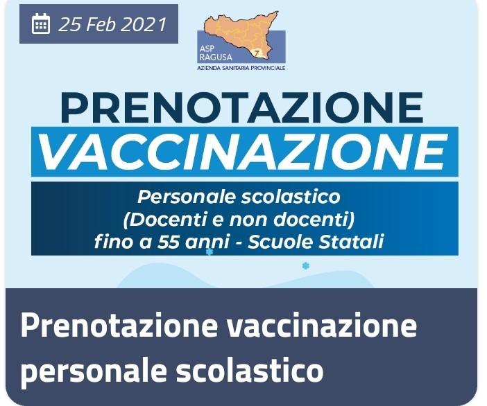 Vaccinazione personale scolastico